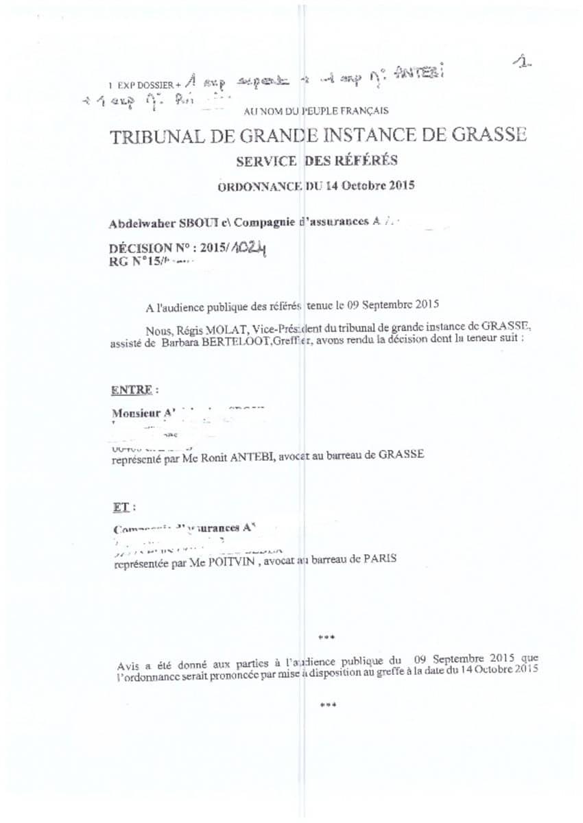 Jugement TGI Grasse - Droit des successions